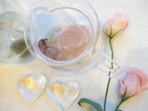 セレスチャル薔薇とイルカとハート