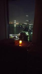 キャンドルと施術前の夜景1
