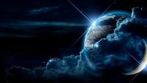 ピカッと光る地球