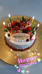 12月8日バースデーケーキ