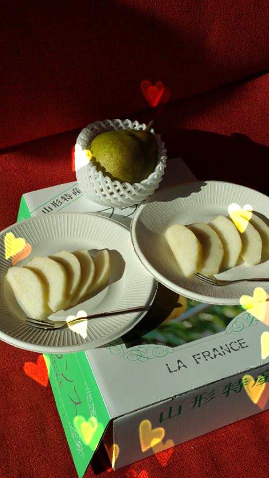 ラフランス箱とお皿