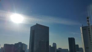 20180116午後の太陽と龍神雲
