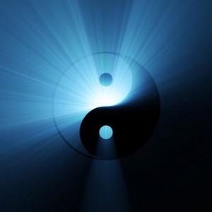 yin-and-yang光が溢れる対極図