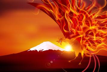 火の鳥と富士山