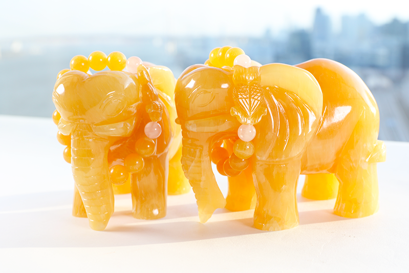 アラゴナイト象お花のブーケ