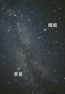 天体図 織姫と彦星