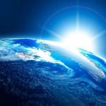 地球と眩しい光